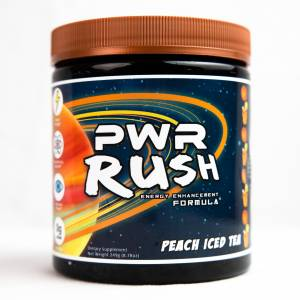 PWR Rush Energy Drink Peach Iced Tea