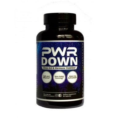 PWR Down Sleep Aid Product Container